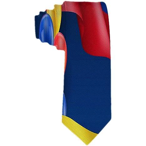 Corbata de hombre con bandera colombiana y globos Corbata de seda ...