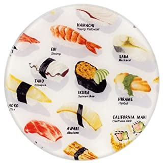 Andreas Round Silicone Mat Jar Opener, Sushi, 6.25 Inch
