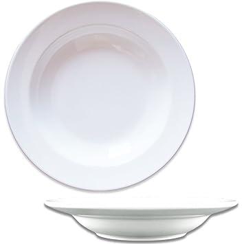 Dauerhaft Dinnerware Rim Soup Plate 9u0026quot;/ Porcelain Soup Bowl 13.5 oz Bright White  sc 1 st  Amazon.com & Amazon.com | Dauerhaft Dinnerware Rim Soup Plate 9