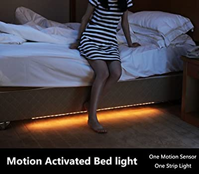 Amagle Led Motion Activated Night Light, Flexible LED Strip Sensor Automatic Bed Light for Bedroom