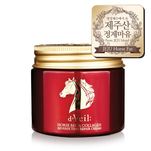 e Repair Jeju Horse Oil Cream, Korean Skin Care Moisturizer for dry skin and normal skin. Korean Beauty - Anti Aging Face Cream Moisturizer ()