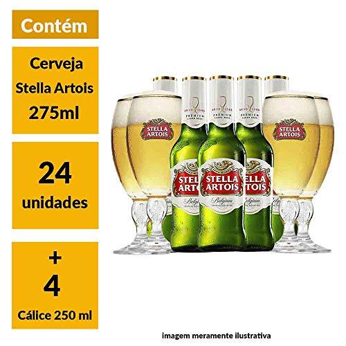 Super Kit Stella Artois (24 Cervejas + 4 Cálices)