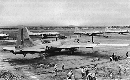 Home Comforts Twentieth Air Force B-29s at an airfield in In