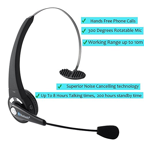 bluetooth trucker headset turn raise bluetooth headset with microphone hand free wireless. Black Bedroom Furniture Sets. Home Design Ideas