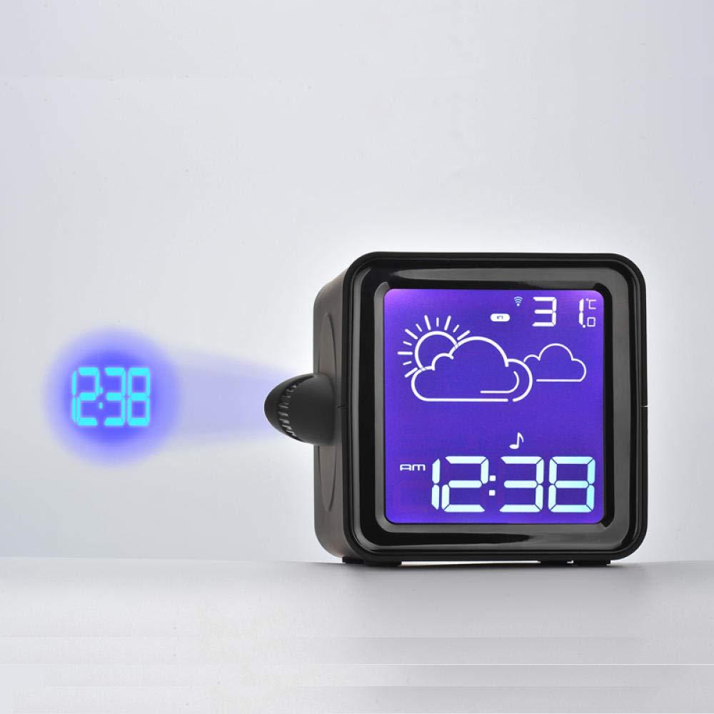 Sinzong Reloj Despertador Temperatura Humedad Reloj Despertador ...
