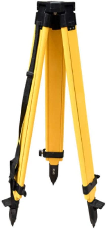 Theodolite Total Station Universal Tripod YXHUI Tripod Color : Yellow Thickened And Increased Three-legged Bracket Stable standing