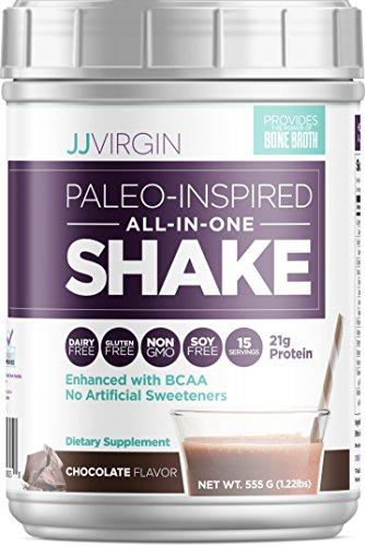 JJ Virgin - Chocolate Paleo-Inspired All-In-One Shakes, 15 Servings 555 G (1.22LBS) by JJ VIRGIN