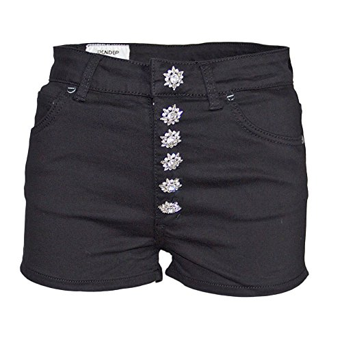 Dondup Women's DP277DS140DA27N999 Black Cotton Shorts