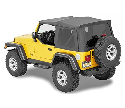 Bestop 54720-35 Black Diamond Supertop NX Complete Replacement Soft Top w/Tinted Windows for 1997-2006 Jeep Wrangler (Except Unlimited) (Soft Top For 2000 Jeep Wrangler Sport)