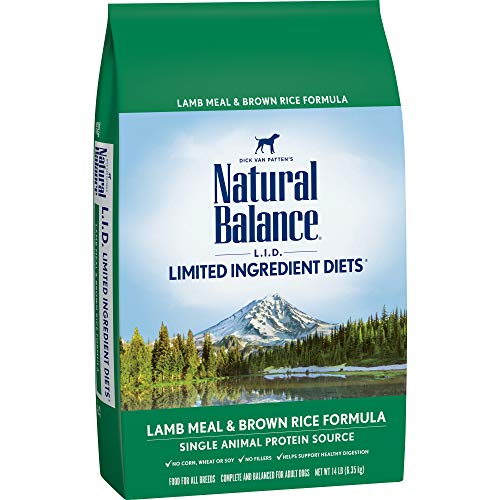 D. Limited Ingredient Diets Dry Dog Food, Lamb Meal & Brown Rice Formula, 14-Pound ()