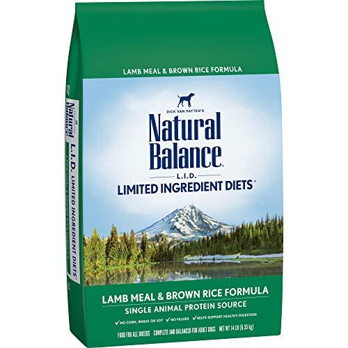 Natural Balance L.I.D. Limited Ingredient Diets Dry Dog Food, Lamb Meal & Brown Rice Formula, 14-Pound