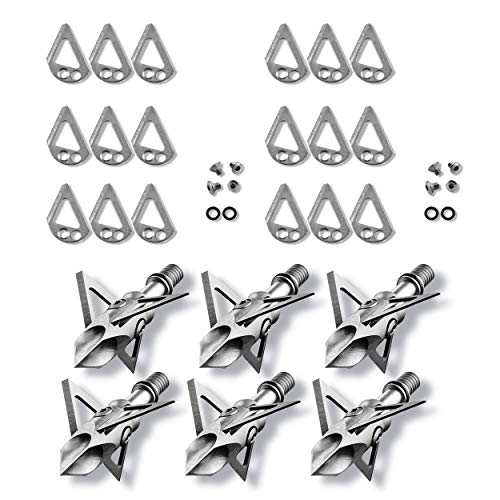 Ramcat Diamondback Fixed-Blade Broadheads 100 Grain Value Pack - 2 Packs of Broadheads & 2 Pack of Replacement Blades (Best Fixed Blade Broadhead For Elk)