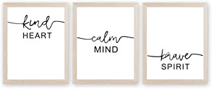 Inspirational Words Art Print Motivational Quote Canvas Painting, Set OF 3<8x10 inch>Canvas Inspiring Lettering Printing Poster For Classroom Bedroom Decor『Framed, Ready To Hang』