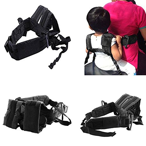 Motorcycle Safety Belt Harness Adjustable Strap Seats Belt Electric Vehicle Safety Harness Bike Safety Belt Backseat Security Sling for Kids Children Kids Baby Boys Girls (Black) ()
