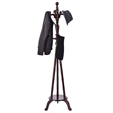 Free Standing Coat Hat Purse Hanger Tree Stand Rack Furniture Solid Wood 73