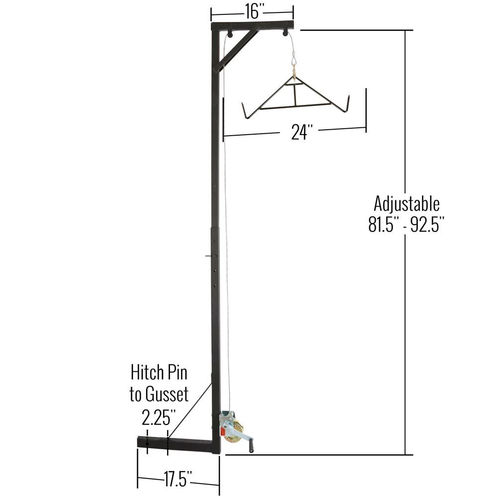 Big Game Deer Fixed Hitch Mount 300 Lb Winch Irrigating Wiring Diagram Hoist With Lift Gambrel Sports Outdoors