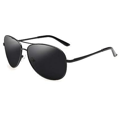 Kennifer Aviator Lunettes de soleil polarisées Hommes Grandes lunettes de  cadre en métal Mode Miroir Lens 2364bd99c1a5