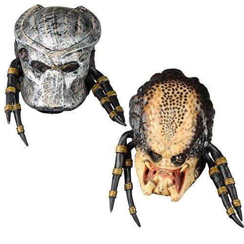 Aliens Vs Predator Requiem Costume with Deluxe Overhead Predator Mask, Gray, One Size