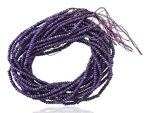 (Ratnagarbha Amethyst Color Quartz Faceted rondelle Loose Gemstone Beads Strand, 6 mm 14 inch 1 Strand, Purple Color, Jewelry Making, Wholesale Price, Prepared Exclusively by Ratnagarbha.)