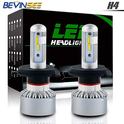 (Iris-Shop - CSP LED Headlight Bulb 60W 6000K High Low Beam For Honda CBR600F F3 1995 1996 1997 1998 CBR 600F CBR600)