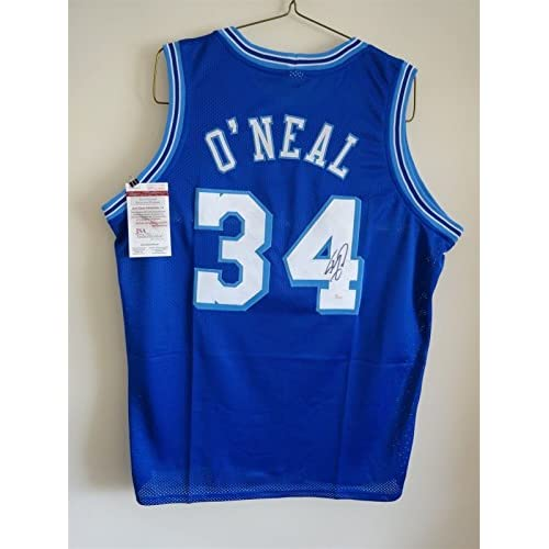 huge selection of c9c6b 20520 SHAQUILLE O'NEAL SIGNED AUTO LOS ANGELES LAKERS BLUE JERSEY ...