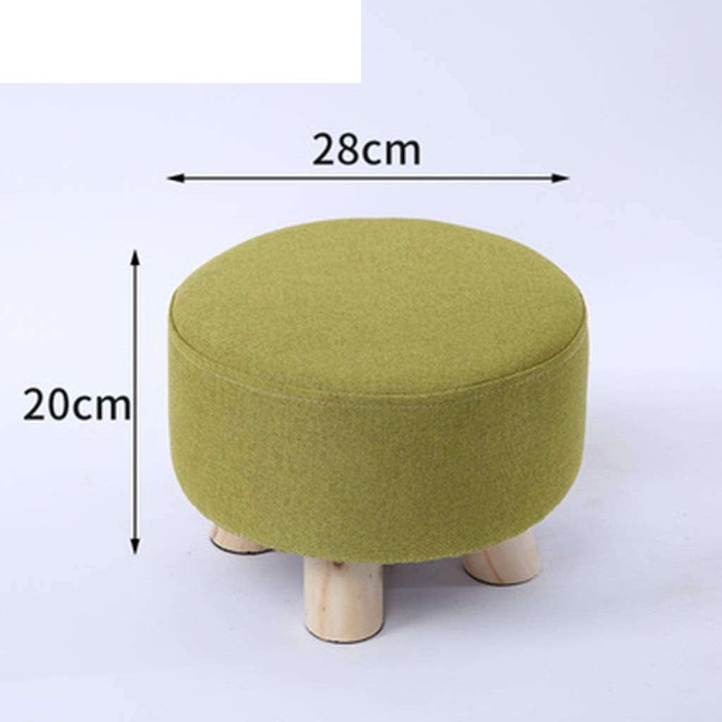 E DQMSB Solid Wood Stool Home Small Stool Creative Small Bench Living Room Coffee Table Stool Sofa Stool Fashion Stool Change shoes Bench (color   D)