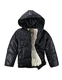 XiaoYouYu Little Boy's Cotton Padded Fit & Zip Pockets Outerwear Coats