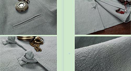 Tang Suit National Costume Retro Jackets Coats Men's dress Full dress Gentleman by BAOLUO-Tang Suit (Image #7)