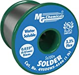 MG Chemicals Sn100e Water Soluble Lead Free Solder, 0.032'' Diameter, 1 lb. Spool