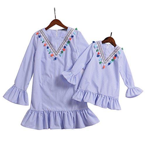 Mumetaz Mummy and Daughter Tassels Frill Sleeve Matching -