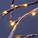 Excelvan 1.5M/5FT 176 LEDs Twinkle Star Upside-down Tree Light Warm White Light Brown Branches for Home, Bedroom, Party, Wedding, Bar, Indoor Outdoor Decoration (HG-C007)