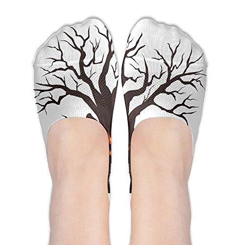 Halloween Spooky Tree.PNG Womens Low Cut Socks No Show Liner Boot Sock Athletic Socks Thin -