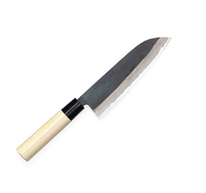 Tojiro Cuchillo Japones - Cuchillos de Cocina Profesionales - Acero Shirogami - Cuchillo Chef para Carne Pescado y Verduras - Cuchillo Cebollero ...