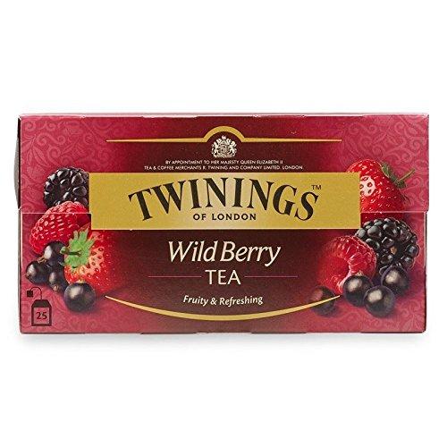 Twinings Wild Berry Tea (International Blend) - 25 Envelopes (Twinings Strawberry Fruit)