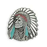 Mens Native American Indian Chiefs Cacique Belt Buckle