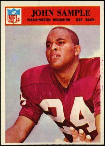 - John Sample (Washington Redskins) 1966 NFL Football Trading Card (Philadelphia Chewing Gum) (#191)