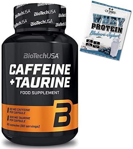 Biotech USA Caffeine + Taurine - 60 Kapseln + Whey Protein 25g