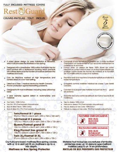 Guard Rest Cover Mattress (Rest-Guard Bed Bug Mattress Cover Twin XL 10 Inch)
