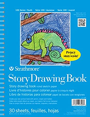 Strathmore STR-27-408 30 Sheet Kids Story Drawing Pad, 8.5 by 11 8.5 by 11 STRATHMORE ARTIST PAPERS