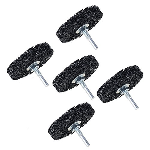 5-Pack 3'' inch Poly Strip Wheel Surface Conditioning Rust Paint Remove Clean Angle Grinder Disc Wheel with 6mm - Metal Stripper