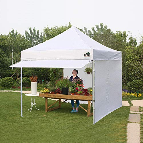 Eurmax 10 x 10 Pop up Canopy Commercial Tent Outdoor Party Shelter with 4 Zippered Sidewalls and Carry Bag Bonus Canopy Sand Bags, Red