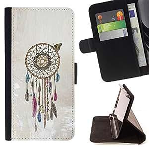 Jordan Colourful Shop - catcher beige American art native For Apple Iphone 6 PLUS 5.5 - Leather Case Absorci???¡¯???€????€???????&bdq