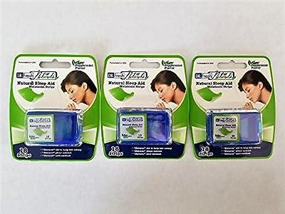 Lot of 3 Dr. Fresh Natural Sleep Aid Melatonin Strips (18 strips/pkg x 3 pkgs)