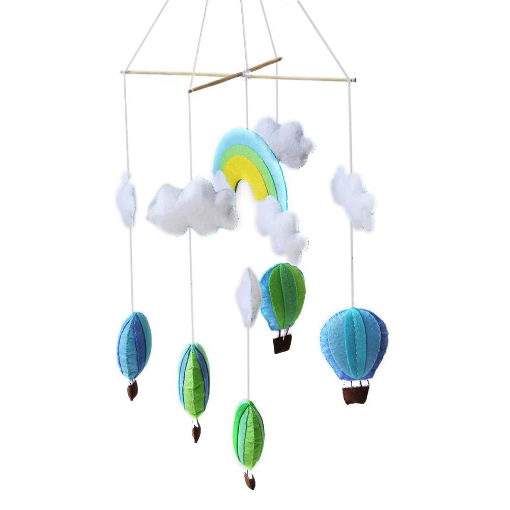 SUPVOX DIY Mobile Wolken Hei/ßluftballon Regenbogen Baby Mobile Bett Mobile DIY Kinderzimmer H/änge Deko