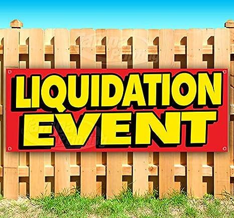 Amazon com : Liquidation Event 13 oz Heavy Duty Vinyl Banner