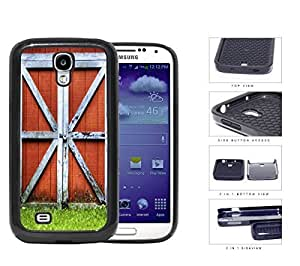 Red Country Barn Doors 2-Piece Dual Layer High Impact Rubber Silicone Cell Phone Case Samsung Galaxy S4 SIV I9500 by icecream design