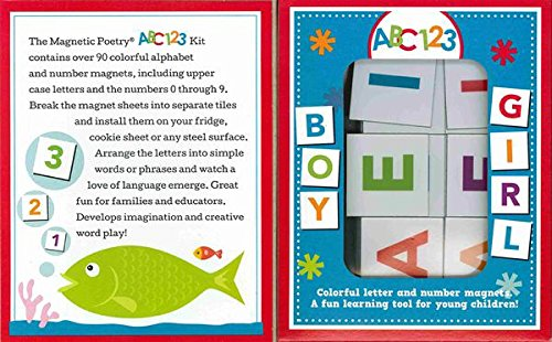 Magnetic Poetry - Kids ABC 123 Kit - Ages 3 and Up - Word...