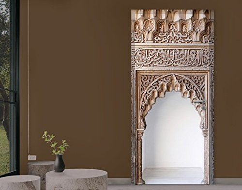 Door Photo Wall Mural Alhambra, Dimensions:XL - 118.5x208.5cm;Dimensions:0cm x 0cm PPS. Imaging GmbH