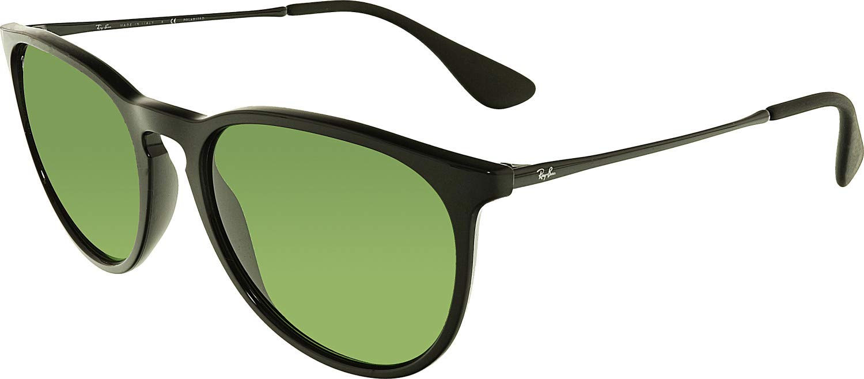 RAY-BAN RB4171 Erika Round Sunglasses, Black/Polarized Green, Polarized Green by RAY-BAN