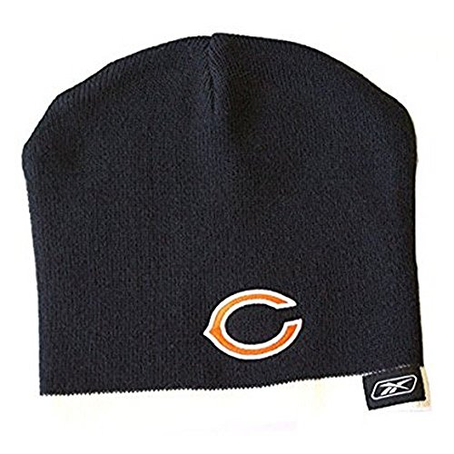 Reebok NFL Officially Licensed Chicago Bears Embroidered Cuffless White Tip Youth Beanie Hat Cap Lid